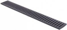 Решетка канала пластиковая (черная), 0,998*0,130*0,022м